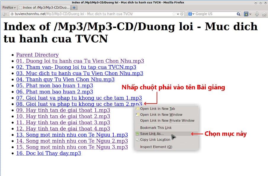 Download Bai giang tu Duong dan truc tiep -Buoc 2